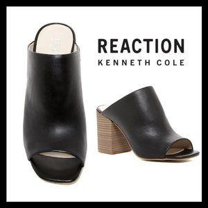Kenneth Cole Reaction Top Notch Leather Mule sz 9